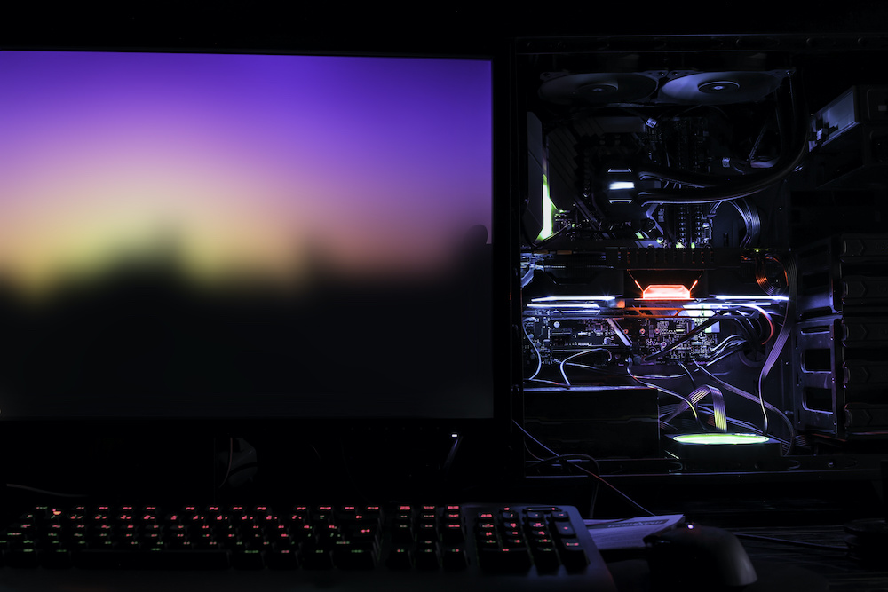 red light on motherboard